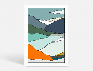 Plakat 50X70 CM - LAND OF ESCAPE WINTER - MOUNTAIN