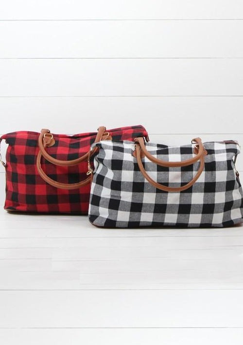 Buffalo Plaid Tote - romp Collection