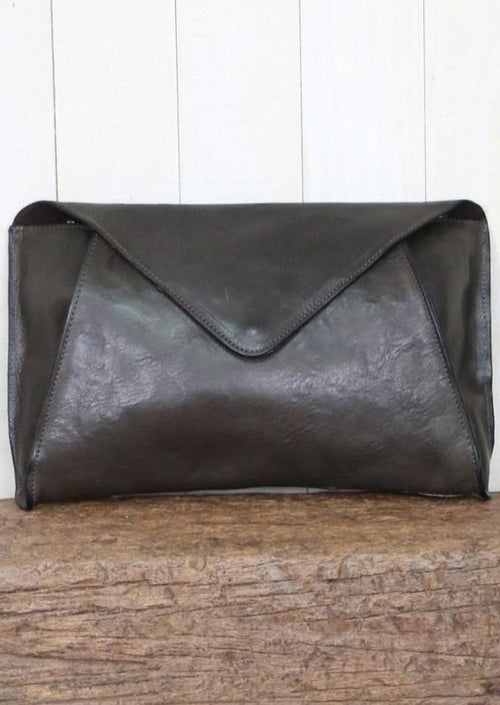 Esme Leather Envelope Clutch - romp Collection
