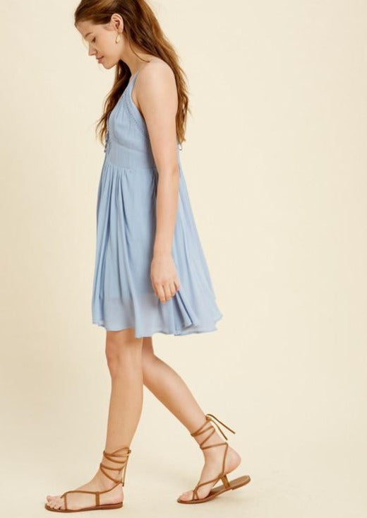 Lace Up Midi Dress - romp Collection