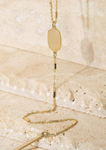 Long Oval Pendant Necklace - romp Collection