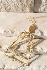 Trapezoid Long Necklace - romp Collection