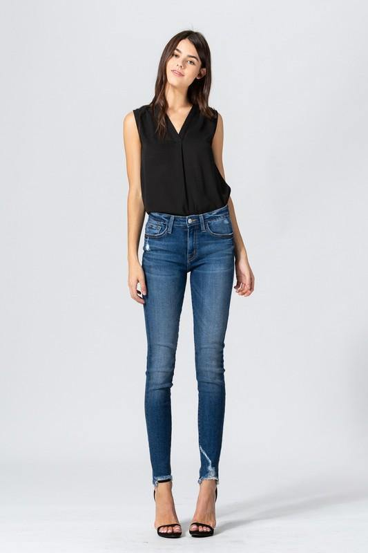Amber Mid Rise Skinny - romp Collection