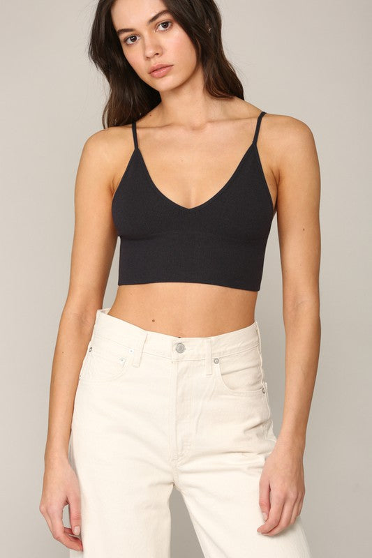 Seamless Ribbed Triangle Bralette - romp Collection