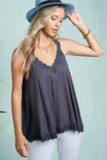 Seaside Lace Tank - romp Collection