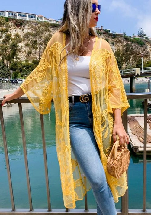 Daisy Lace Open Duster - romp Collection