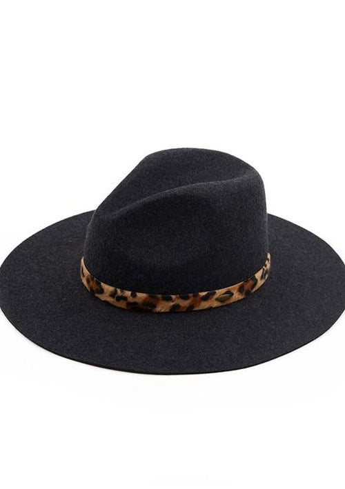 Lucas Wool Felt Brim Hat - romp Collection