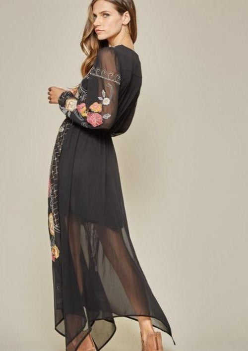 Seven Wonders Embroidered Maxi Dress - romp Collection