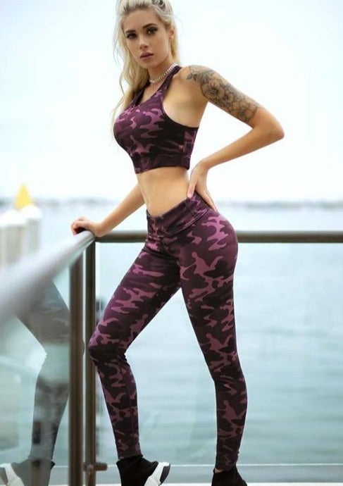 Pink Camouflage Active Sports Top - romp Collection