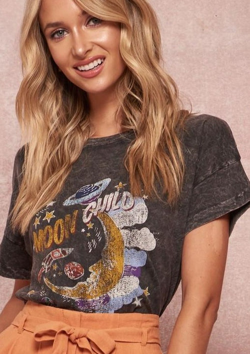 Moon Child Vintage Graphic T - romp Collection