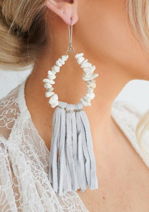 White Hot Suede Earrings - romp Collection