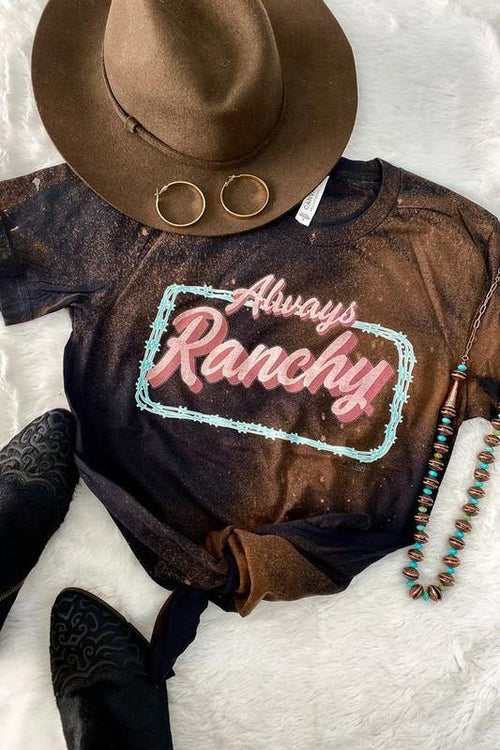 Always Ranchy Distressed T - romp Collection