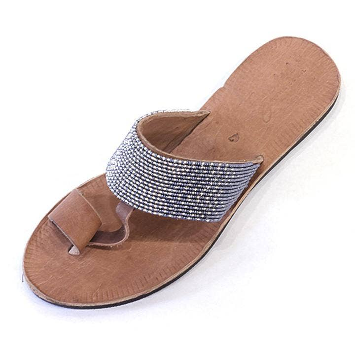 Hibiscus Silver and Slate Ombre Sandal - romp Collection