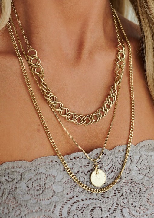 Coin Layered Necklace - romp Collection