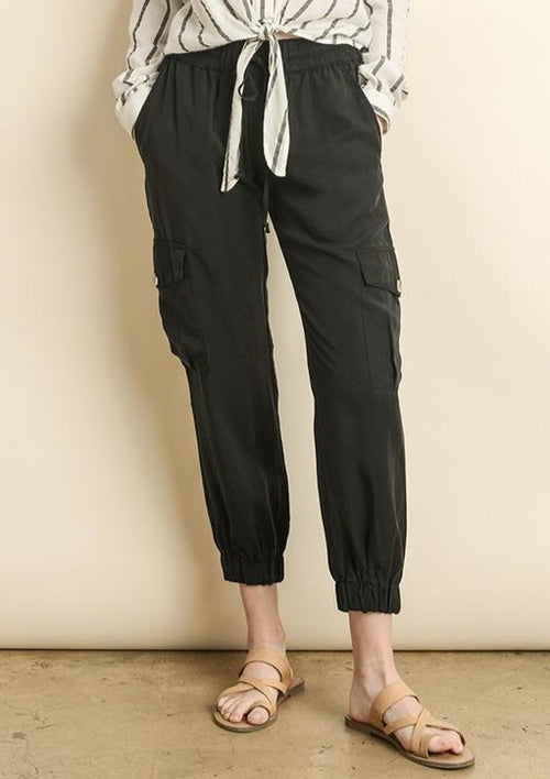 Day Break Cargo Jogger-Black - romp Collection