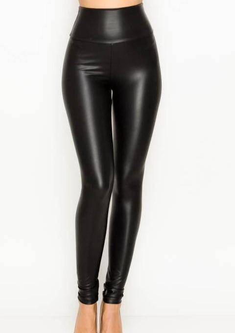 Faux Leather Hot Pants - romp Collection