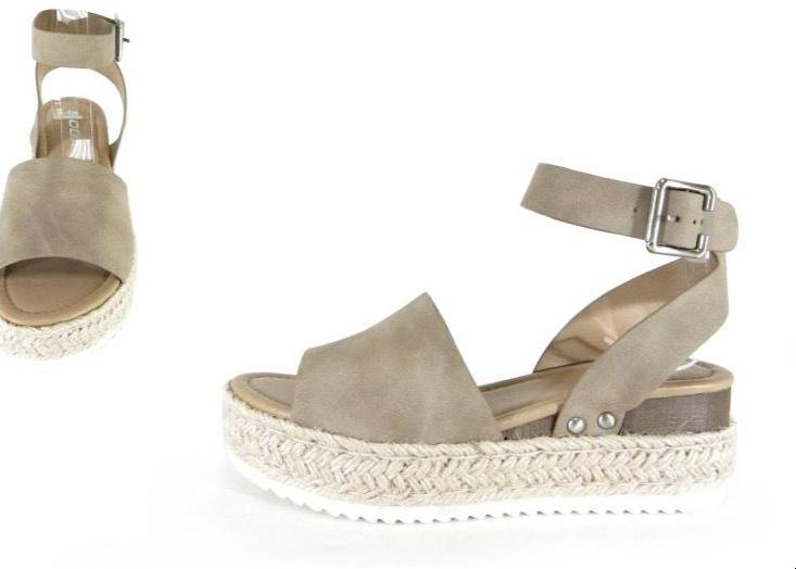 Nikki Micro-Suede Espadrille Sandal- Dark Natural - romp Collection