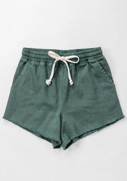 Amanda Raw Hem Drawstring Shorts - romp Collection