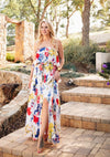 Water Color Petals Maxi Dress - romp Collection