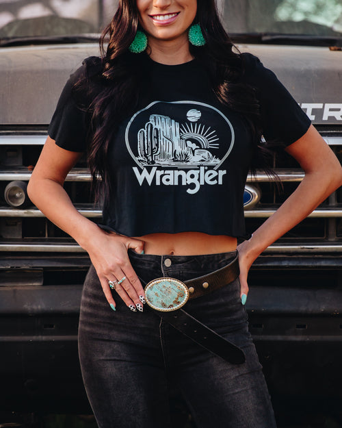 Desert Nights Crop T-Wrangler® - romp Collection