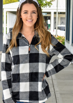Cozy Buffalo Plaid Pullover - romp Collection