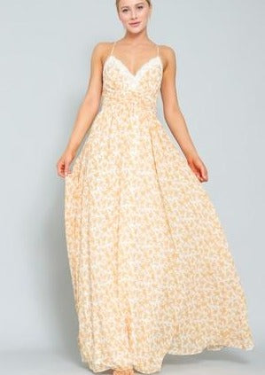 Blissful Floral Maxi Dress - romp Collection
