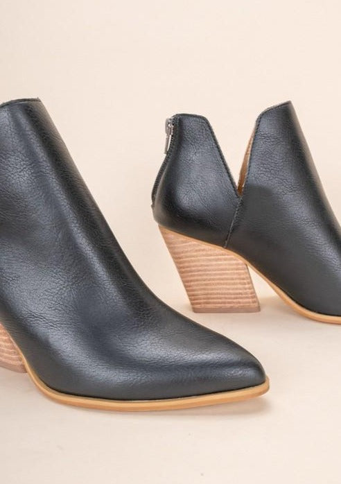 Indigo-Western Stacked Bootie - romp Collection