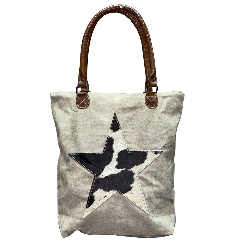Hide Star Canvas Tote - romp Collection