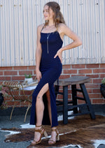 Navy Nights Criss-Cross Dress - romp Collection