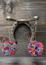 Pom Obsessed Earrings- Large - romp Collection