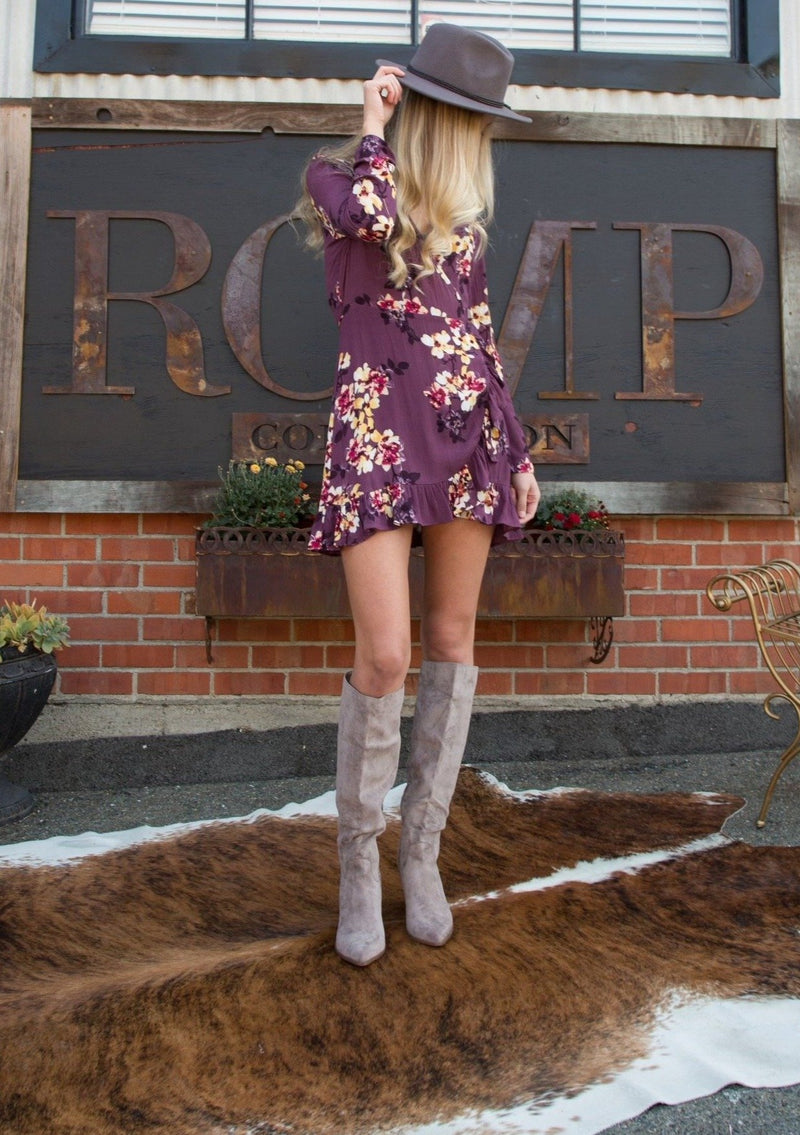 Live Free Floral Wrap Dress - romp Collection