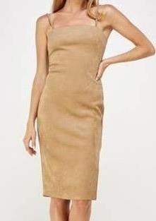 Squeeze Me Suede Midi Dress - romp Collection