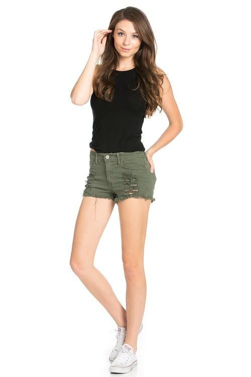 Vintage Distressed Denim Shorts - romp Collection