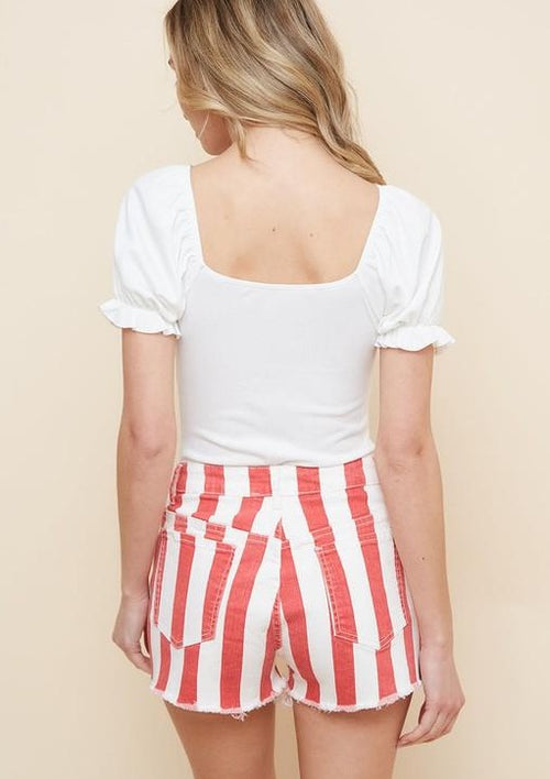 Flying High Striped Shorts