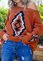 Red Rock Aztec Sweater - romp Collection
