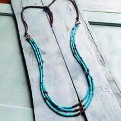 Triple Strand Turquoise Necklace - romp Collection