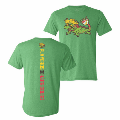Los Playeros de Harrisburg 108 Stitches Men's Tee - Green