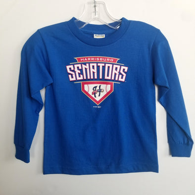 Kids Senators Royal Blue Long Sleeve Tee