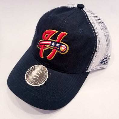 Outdoor Cap Mesh Back Adjustable Cap - Navy