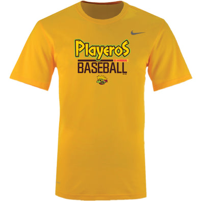 Youth Nike Playeros Dri-Fit Yellow Tee