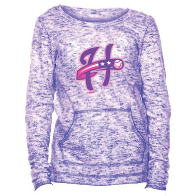 Harrisburg Senators Girls Purple Long Sleeve Tee