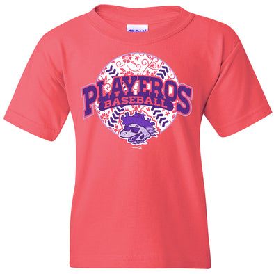 Girls Coral Playeros Tee - Youth
