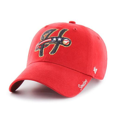 Harrisburg Senators '47 Brand Red Sparkle Cap