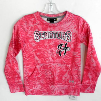 Harrisburg Senators Girls Pink Under Armour Crew Fleece