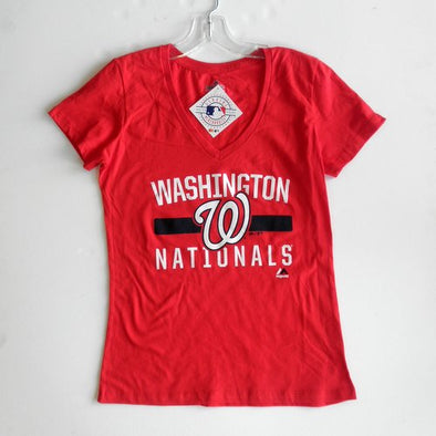 "Ladies Washington Nationals Majestic ""One Game"" Tee"