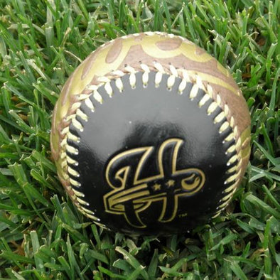 Harrisburg Senators Gold and Black Logo Ball