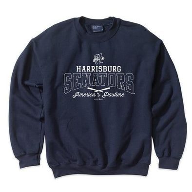 Harrisburg Senators MV Sport Crew Neck Fleece - Navy