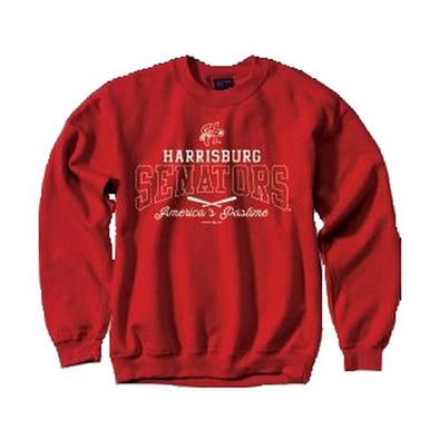 Harrisburg Senators MV Sport Crew Neck Fleece - Red