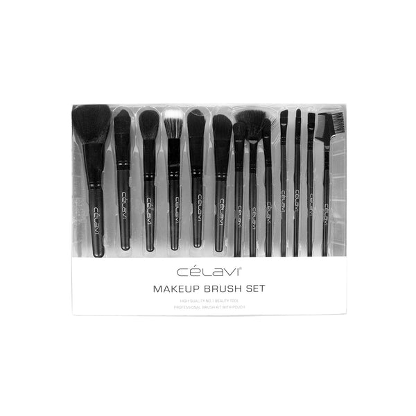 Celavi 13PC Makeup Brush Set with Pouch