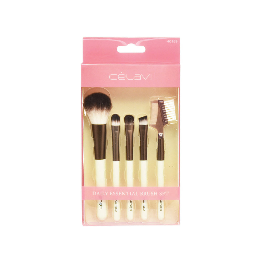 Celavi 5PC Daily Essential Makeup Brush Set